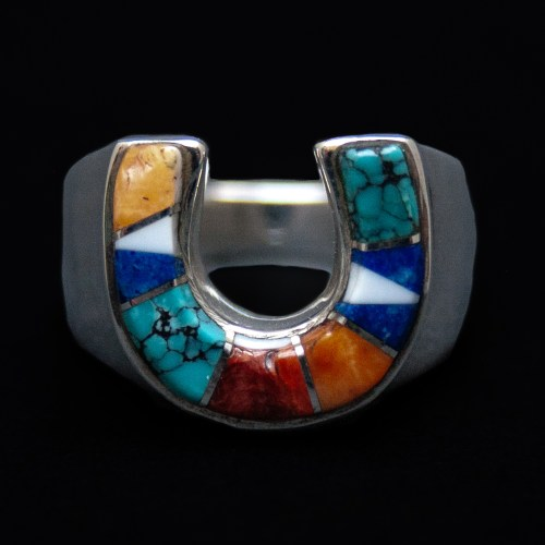Multicolour Horseshoe Ring