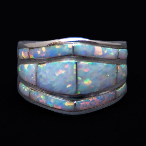 Native American White Opal Ring
