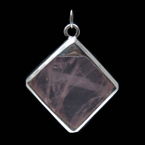 Square Pink Crystal Pendant