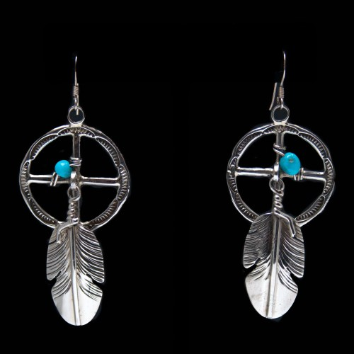 Ben Begaye Medicine Wheel Earrings