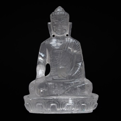 Clear Quartz Crystal Buddha Carving