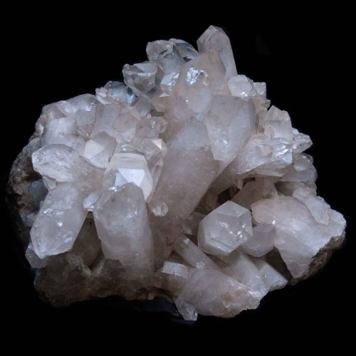Giant Clear Quartz Cluster