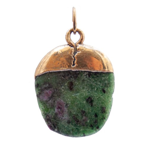 Gold Plated Anyolite Pendant