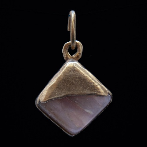 Gold Plated Pink Opalite Pendant