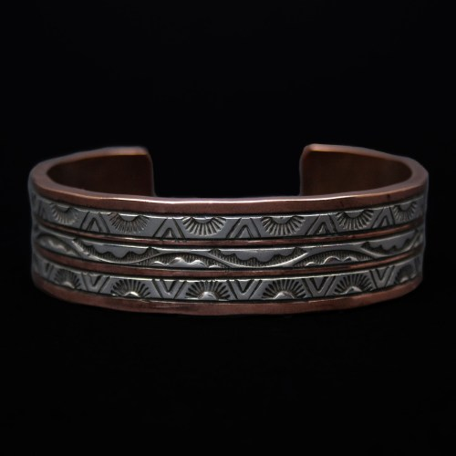 Large Wylie Secatero Copper Bracelet