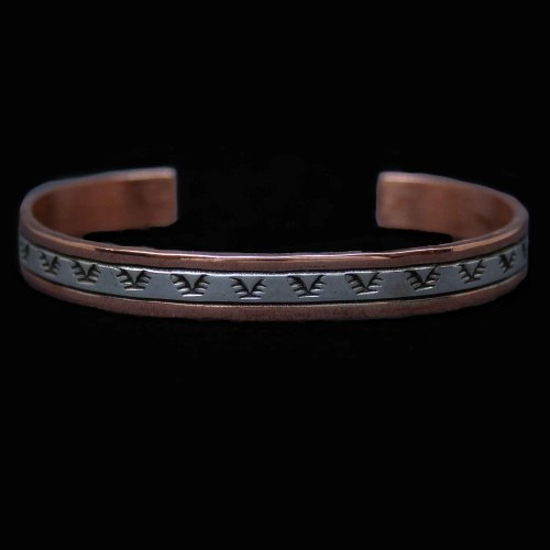 Native American Navajo Copper Silver Bracelet