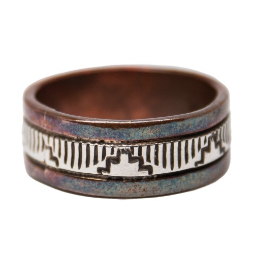 Navajo Silver Copper Ring