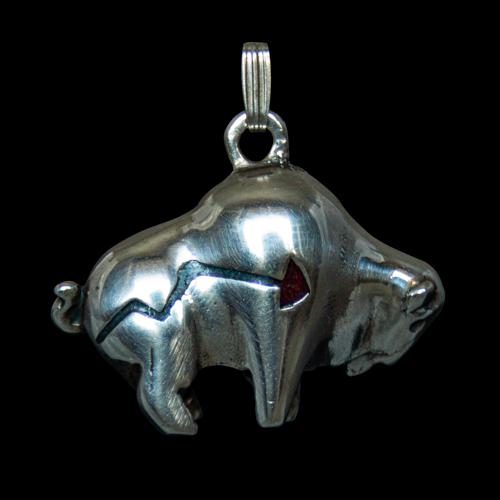 Silver Buffalo Zuni Pendant