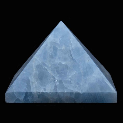 Blue Calcite Crystal Pyramid