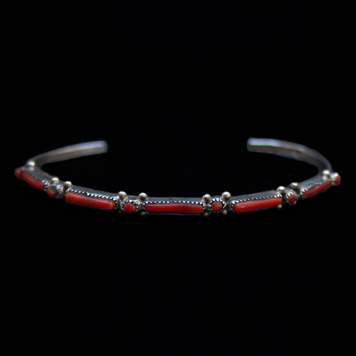 Thin Red Coral Bracelet