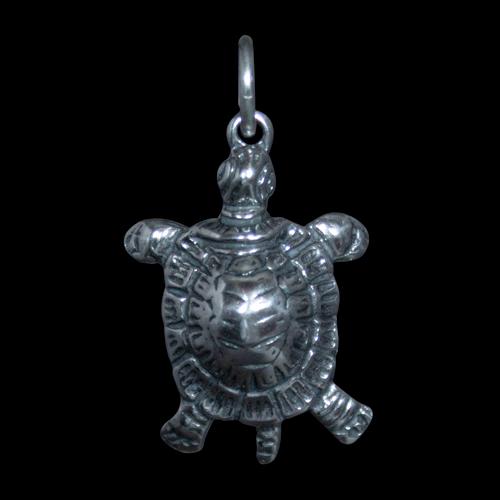 Small Silver Turtle Pendant