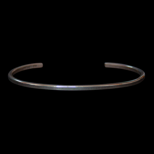 Thin Smooth Tahe Silver Bracelet