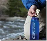Filtering water with a Katadyn water filtration system