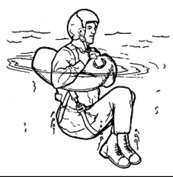 Position to take when using a life preserver