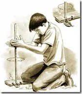Hand drill method to start a fire
