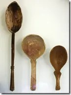 Ancient wooden spoons