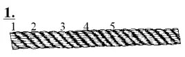 Eye Splice - count 5 rounds of rope