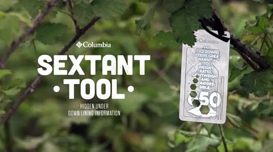 Columbia sextant tool clothing tag