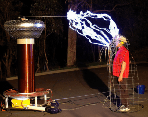 Faraday cage demonstration