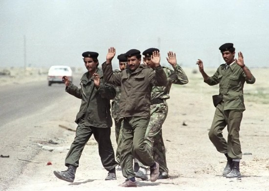 Soldiers surrendering