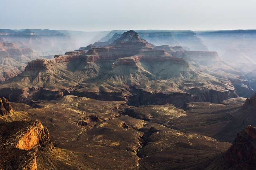Grand Canyon with Fog