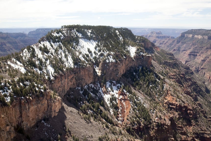 Snow View Grand Canyon