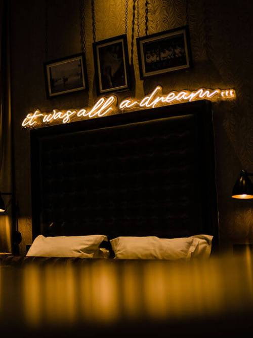 wildfire led neon sign it was all a dream led sign in bedroom 1