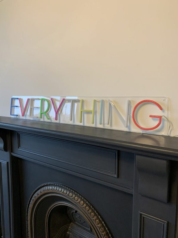 switched off everything sign on fireplace