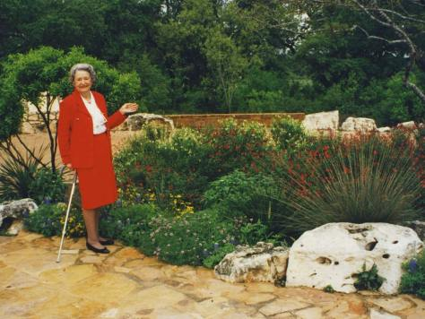 Lady Bird Johnson in May 1995.