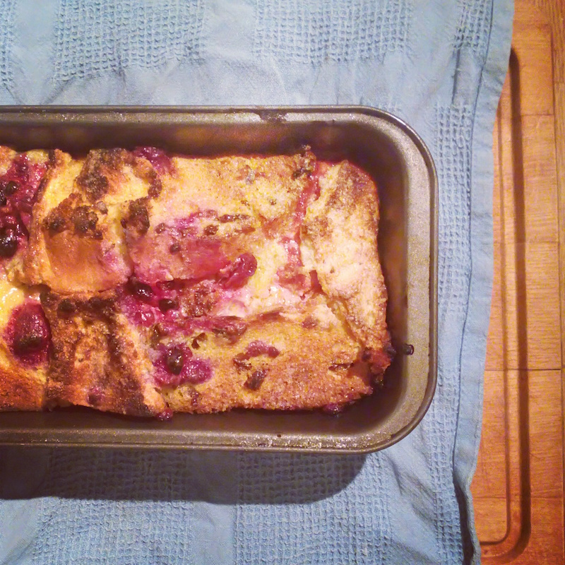 panettone bread and butter pudding