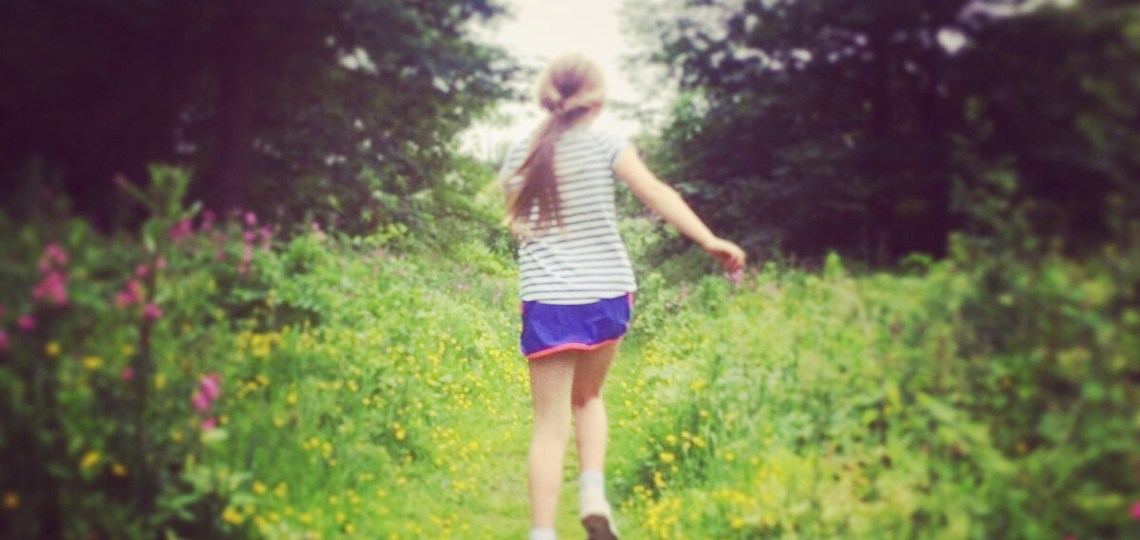 Finding wild flowers with children