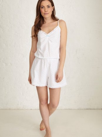 santorini white broderie playsuit front (Large)
