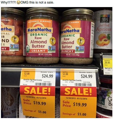 Almond butter is expensive