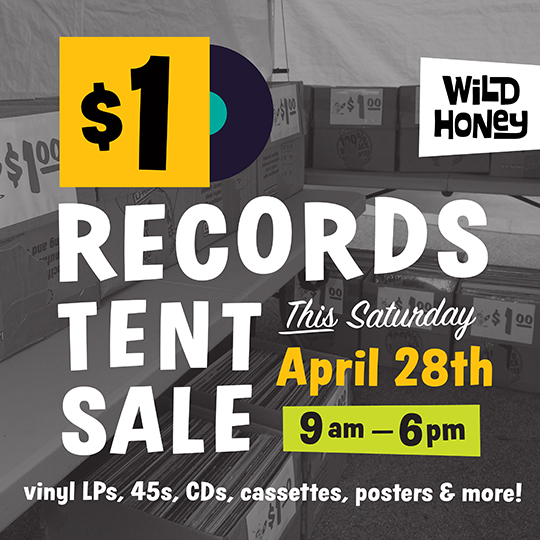 knoxville record store vinyl records tent sale April 28th