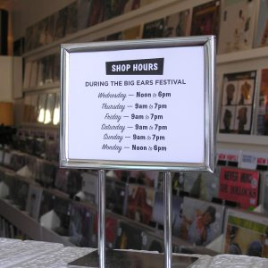 record store HOURS during the Big Ears Festival Knoxville