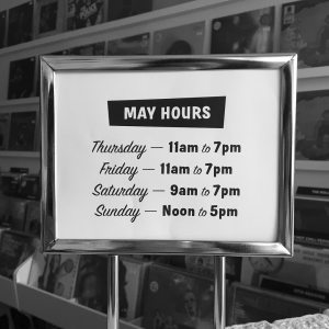 record shop hours