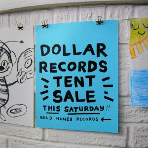 dollar records tent sale this Staurday September 28th at 10am