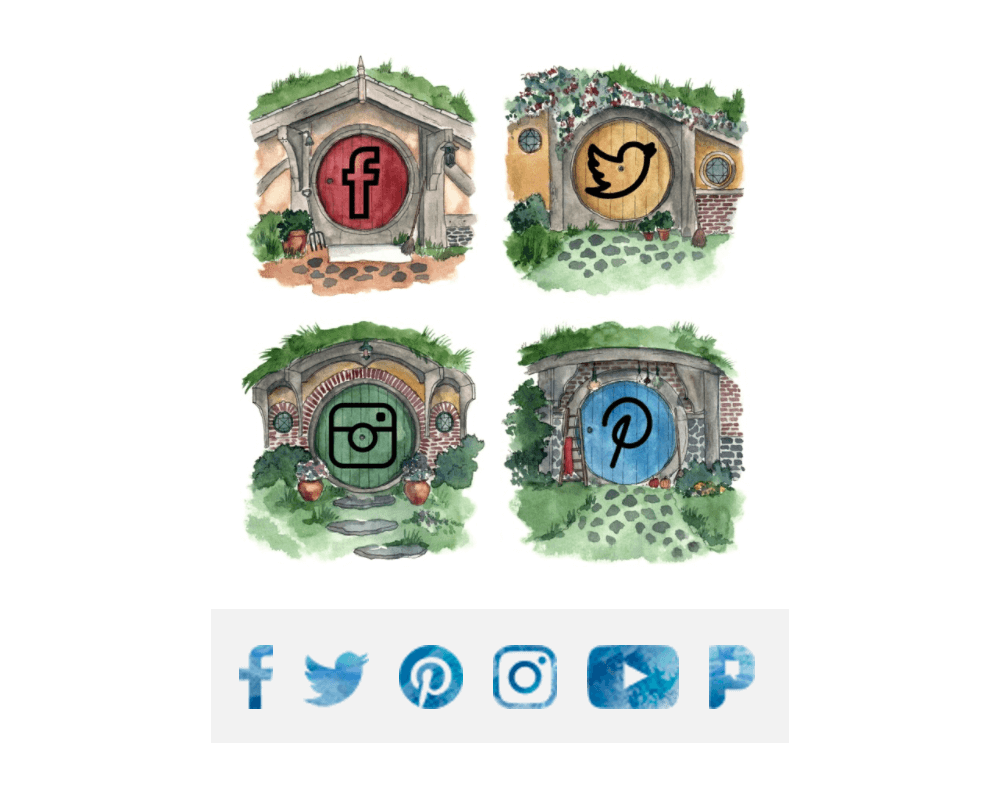 Sidebar Social Media Icons