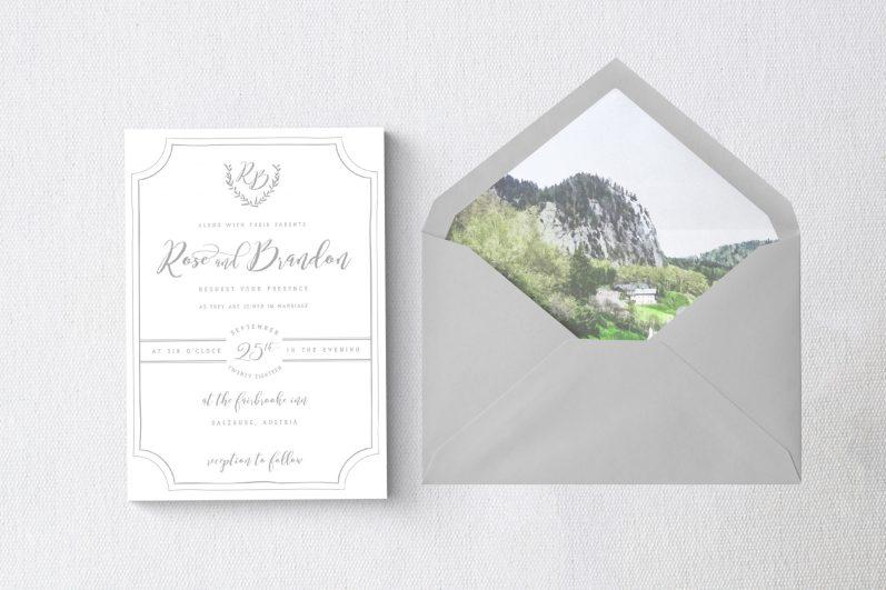 000 - White Background + Items - Salzburg Invite + Envelope Liner 1