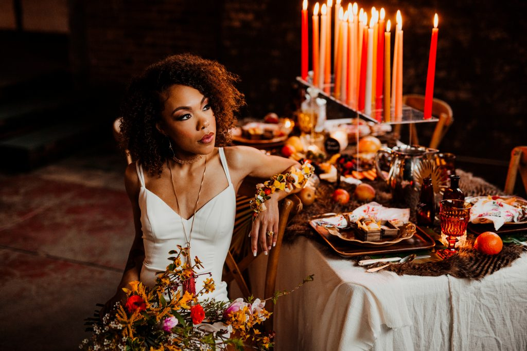 Wild Urbana, a bright, bold styled shoot at the Foundry on Broadway in Frankfort Kentucky. Photography by Crystal Ludwick Photography, coordination by White Oak Studios.