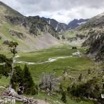 Pla d´Aiguallut camino al collado de la Renclusa