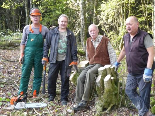 Biotopaktion mit Jägern der Kreisgruppe Bad Neustadt a. d. Saale©Wildland-Stiftung Bayern