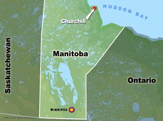 Churchill Manitoba map