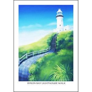 Byron Bay Lighthouse Walk Greeting Card