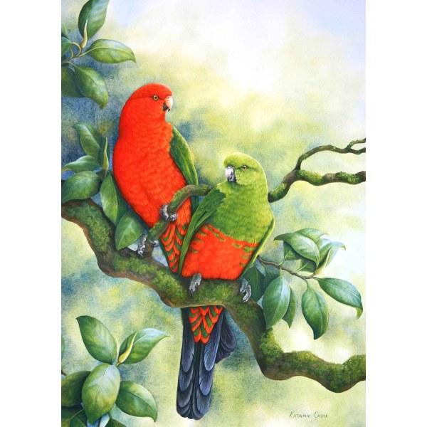 Rainforest Red - King Parrots