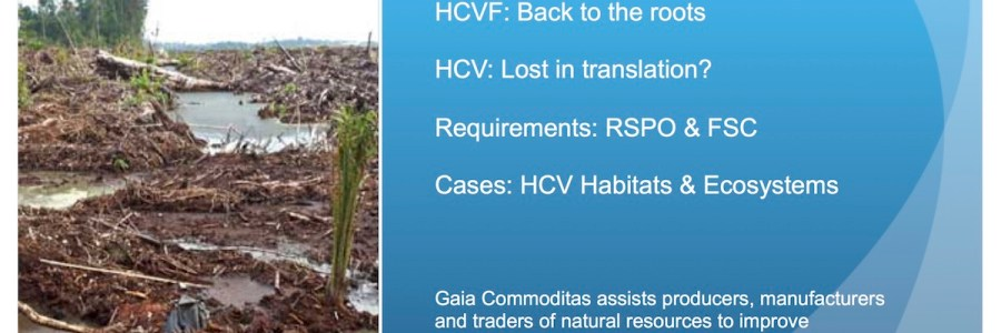 Auditing HCV in oil palm, Applying a tool for natural forests in man-made environs
