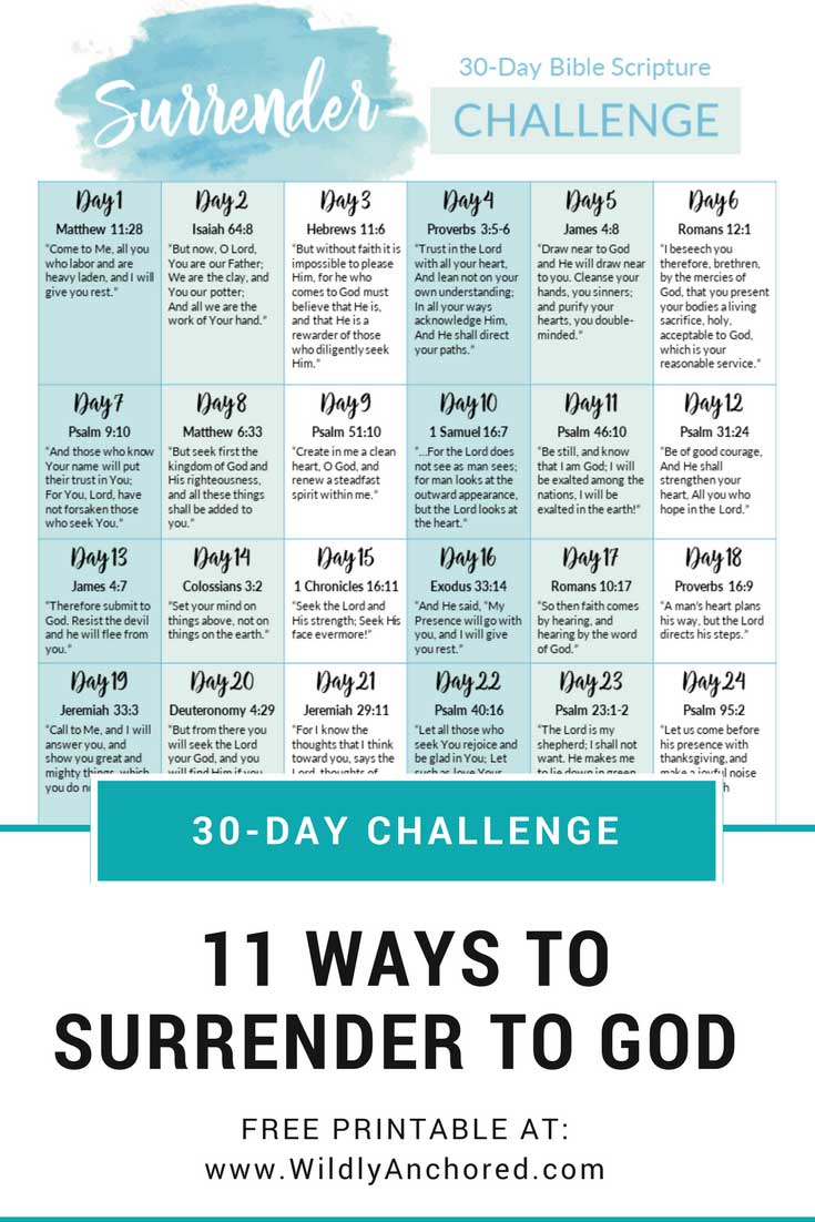 11 Ways to Surrender to God + 30-Day Surrender Challenge FREE Printable