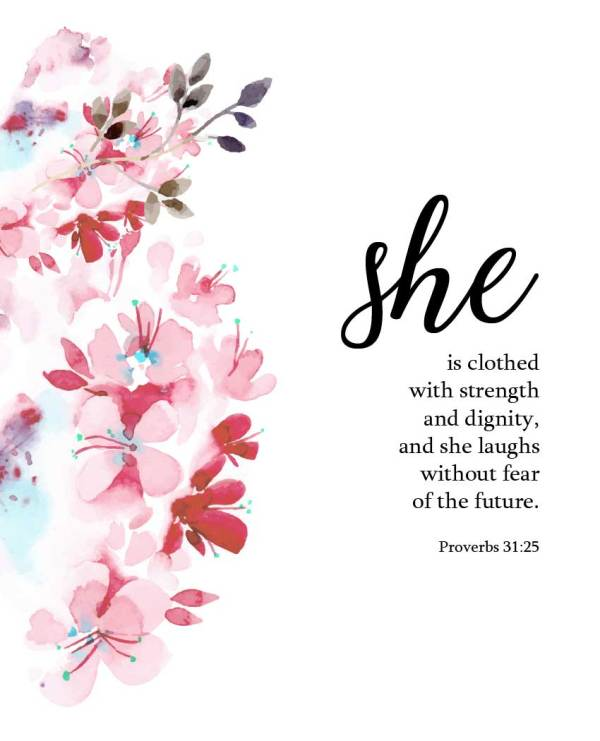 """She is Clothed (Printable) 8""""x10"""" - Wildly Anchored"""