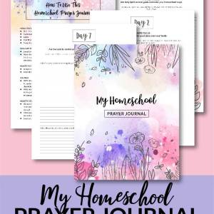 Prayer is key to experiencing all that God has for you in your homeschool. Grab My Homeschool Prayer Journal: a 30-day day prayer guide for homeschool moms. #homeschool #homeschoolprayerjournal