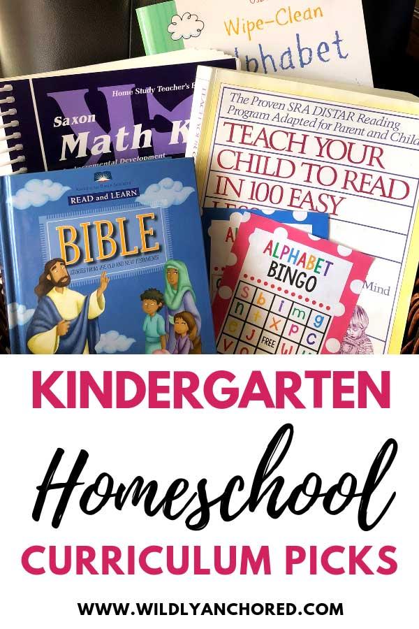 Check out our Kindergarten homeschool curriculum picks for this year! #homeschoolcurriculum #homeschoolkindergarten